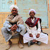 JAISALMER. RAJASTHAN. OLD MEN.