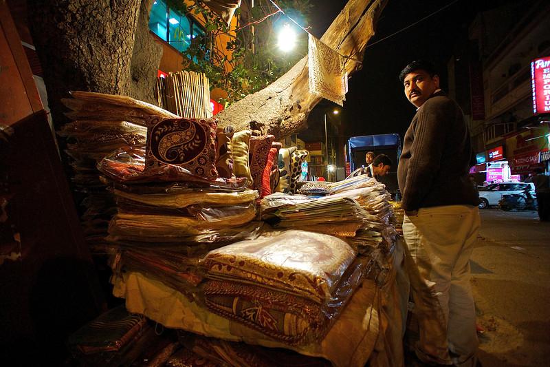 Rugs and Street Vendor - Delhi, India