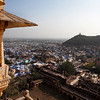 BUNDI. VIEW AT THE CITY OF BUNDI FROM THE PALACE. RAJASTHAN. INDIA.
