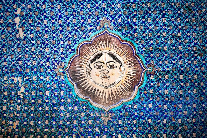 BUNDI. RAJASTHAN. LOGO OF THE ROYAL PALACE.