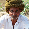 RAJSTHAN MAN WITH GREEN TURBAN. [2]
