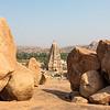 View at the Virupaksha or the Pampapathi temple a Hindu place of worship in Hampi, Karnataka, South India, Asia