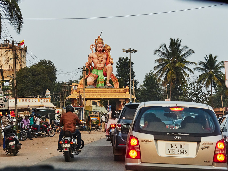 Hanuman - Road to Bangalore, India