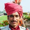 GUARD OF THE UMAID BHAVAN PALACE. JODHPUR. RAJASTAN.