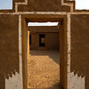 KULDHARA. THAR DESERT. RAJASTHAN. ENTRANCE DOOR OF A HOUSE IN THE ABANDONED MIDDLE AGE VILLAGE