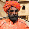 JAISALMER. MAN WITH THE LONGEST MOUSTACHE OF RAJASTHAN.
