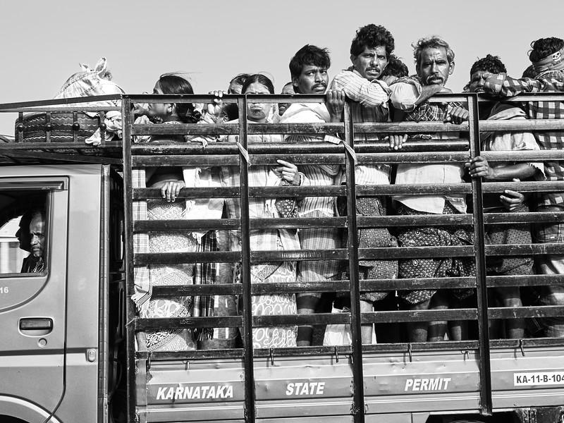 Shocking Transportation - Road to Mysore, India
