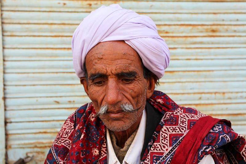 OLD RAJASTHAN MAN. JAISALMER. INDIA.