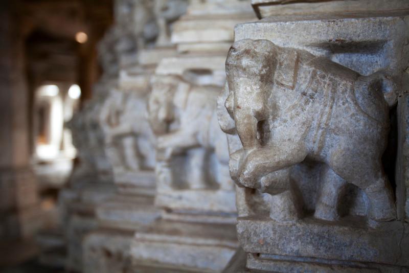RANAKPUR. ADINATHA TEMPLE. JAIN TEMPLE. ELEPHANTS .RAJASTAN. INDIA.ADINATHA TEMPLE. JAIN TEMPLE.