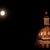 Moonrise, Denver capitol building