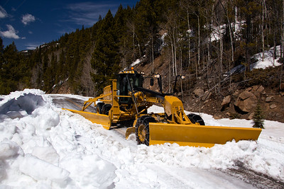 Clearing Snow on Independence Pass
