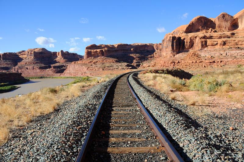 Potash Railroad through Sandstone Canyon