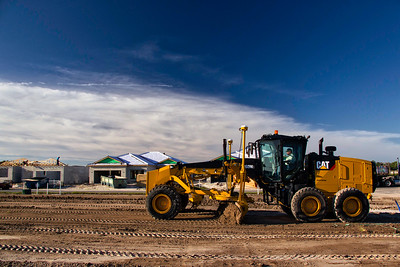 Cat 160M3 at a new housing development in Florida