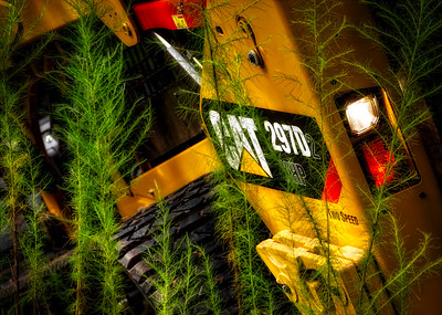 Cat 292D2 Skid Steer in tall weeds