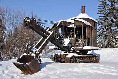 Historic Mining Steam Shovel in Alaska