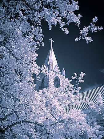 "Fredericksburg Texas - Cherry Springs Church <BR><BR>Want to buy a print of this image?  Click <a href=""http://www.langfordphotography.com/For-Sale/Infrared/935257_hvPX2p"">Here</a>!"