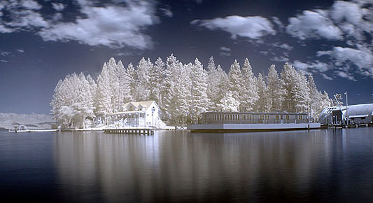 """Flathead Lake Montana - Infrared Reflection <BR><BR>Want to buy a print of this image?  Click <a href=""""http://www.langfordphotography.com/For-Sale/Infrared/935257_hvPX2p"""">Here</a>!"""