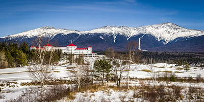 Mt Washington Hotel, Mt Adams and Mt Washington in Winter