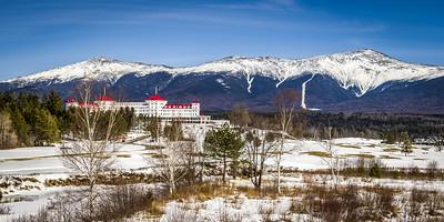 Mt Washington Hotel, Mt Adams and Mt Washington in Winter