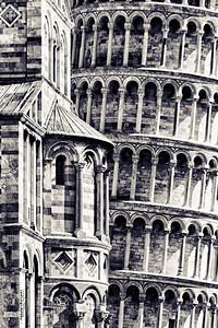 The lean.  Torre de Pisa, Pisa, Italia