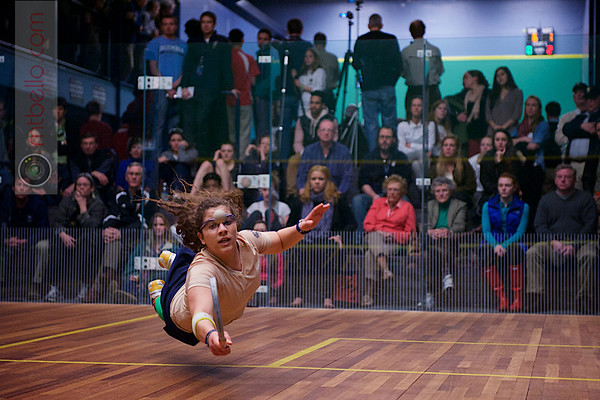 2013 College Squash Individual Championships: Kanzy El Defrawy (Trinity) and Millie Tomlinson (Yale)<br /> <br /> Published on page 41 of Squash Magazine (March/April 2013)