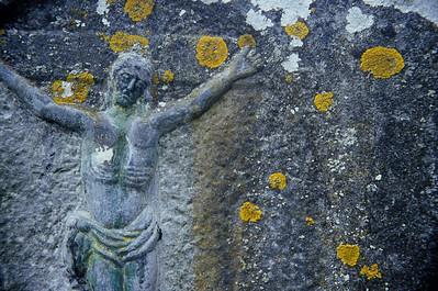 Gravestone closeup, Glendalough