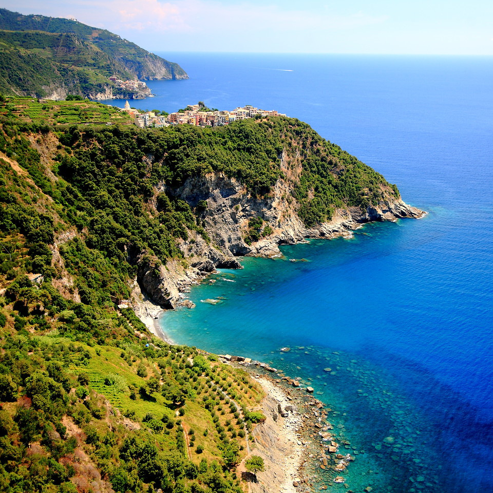 Corniglia and the Cinque Terre coast.