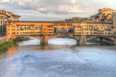 Ponte Verde Bridge at sunset