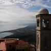 Town of Castelmola, on the mountain top, above Taormina