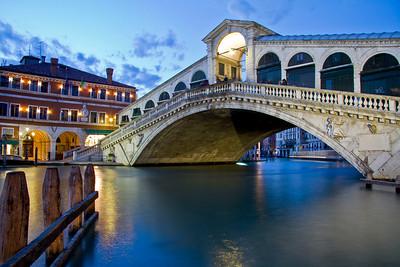 Rialto Bridge Sunset in Venice, Italy
