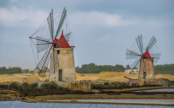 two Marsala windmills