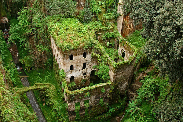 Deep Valley of the Mills, dated to 900 AD<br /> Il Vallone dei Mulini