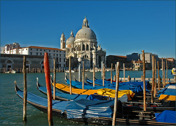 Basilica di S. Maria della Salute, Venice, Italy from across the Grand Canal.