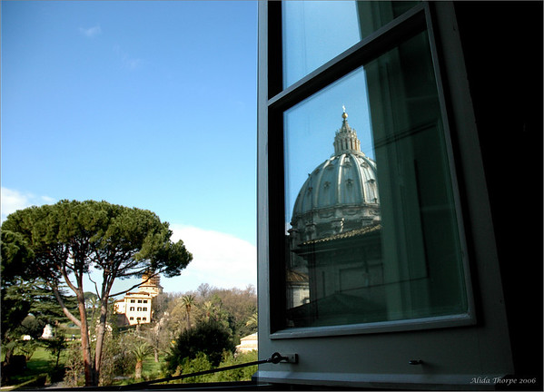 As seen from inside the Vatican