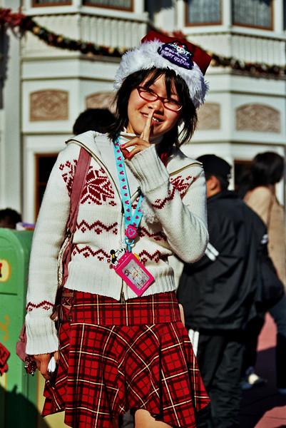 JAPANESE GIRL. TOKYO DISNEYLAND.
