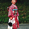LITLLE JAPANESE GIRL IN TRADITIONAL CLOTHES. HARAJUKU. TOKYO. JAPAN.