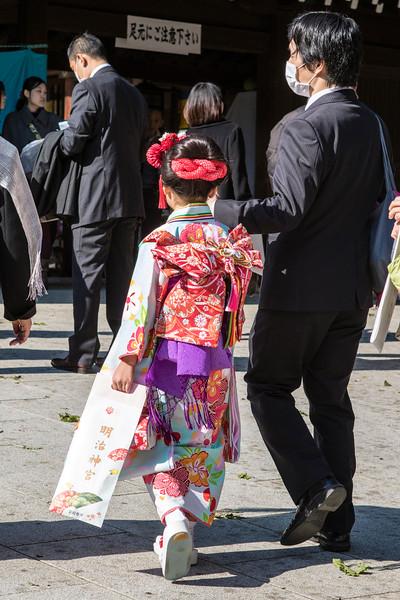 TOKYO. MEIJI SHRINE. JAPANESE TRADITIONAL COSTUMES.