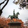 TOKYO. UENO PARK (UENOKOEN). EQUESTRIAN STATUE OF PRINCE KOMATSU AKIHITO.