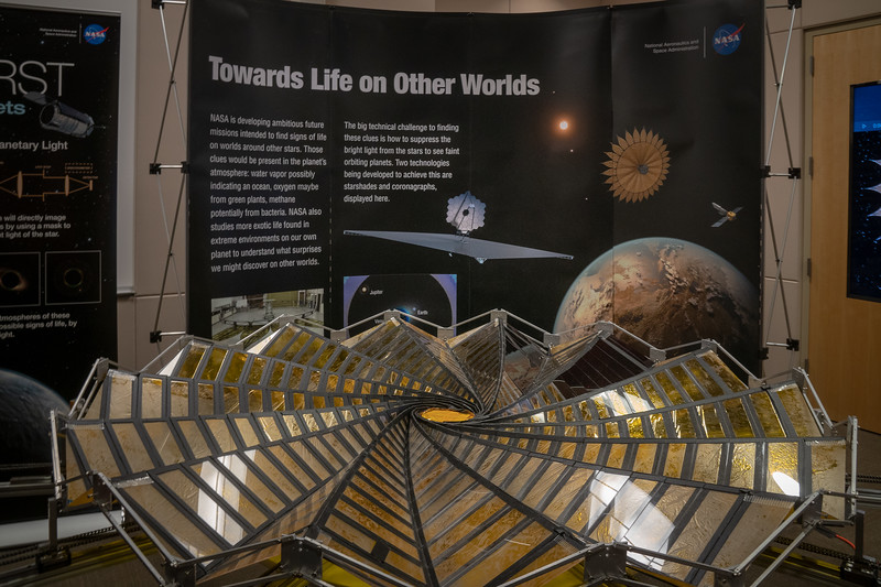 Model of Starshade on display at the Exoplanet building