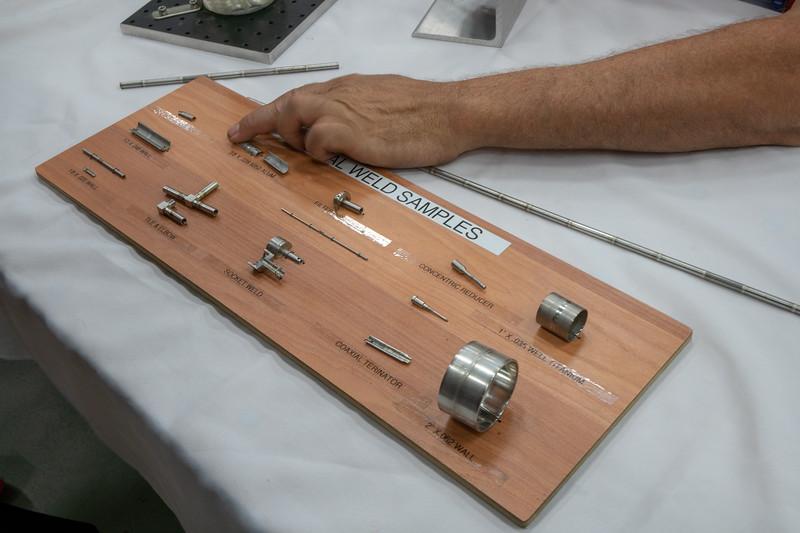Samples of arc welds