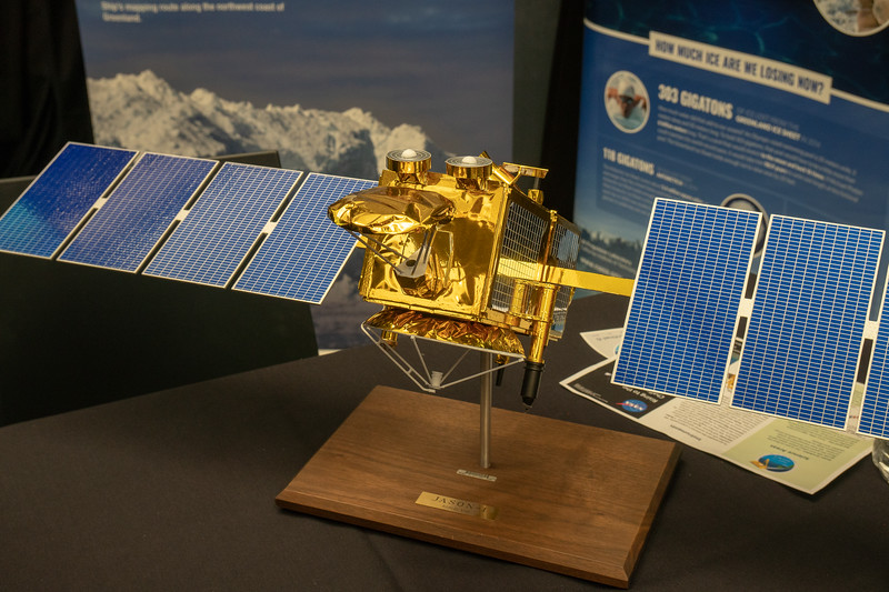 Model of Jason 1, spacecraft designed to measure minute changes in sea level