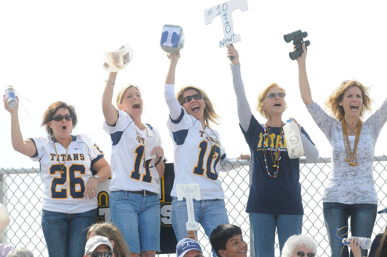 Fans from Webster Thomas cheer on their Titans.