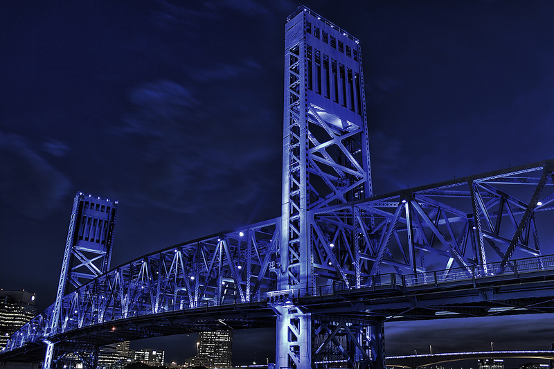 Main Street Bridge Jacksonville Florida. Canon HDR. No stars in this one due to cloud cover.