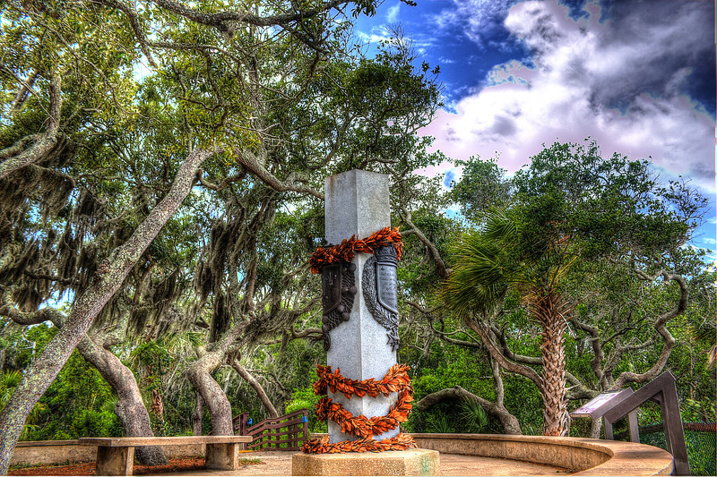 Ribault Monument Jacksonville Fla. the day of the storm 5/27/12