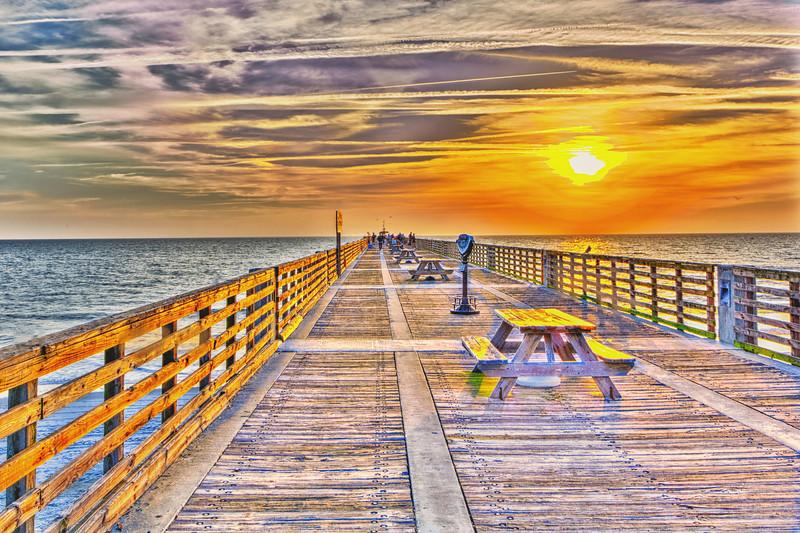 Jacksonville Beach Pier Sunrise
