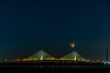 Waxing Crescent Moon setting over Dames Point Bridge