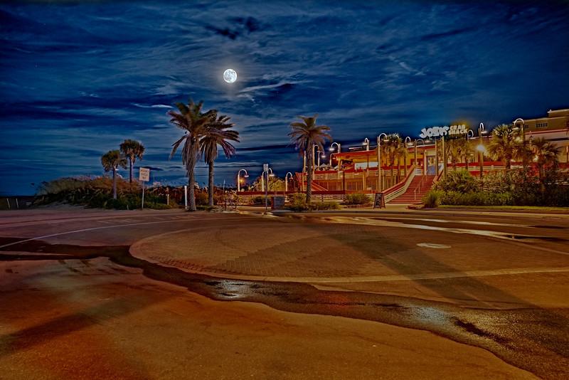 Starry Moon Shine over Joe's Crab Shack