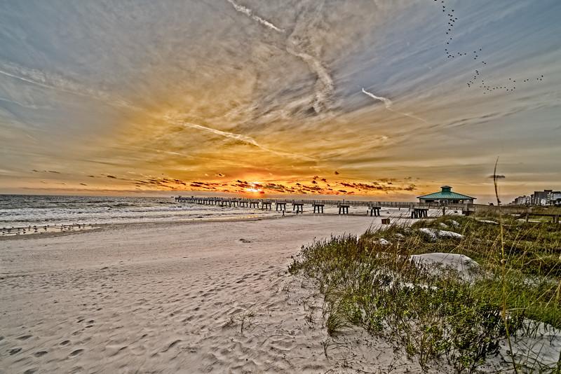 2018 Thanksgiving Sunrise Jacksonville Beach Florida