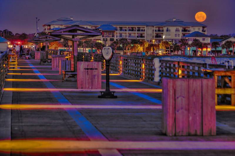 Worm Moon Set Jacksonville Beach Pier