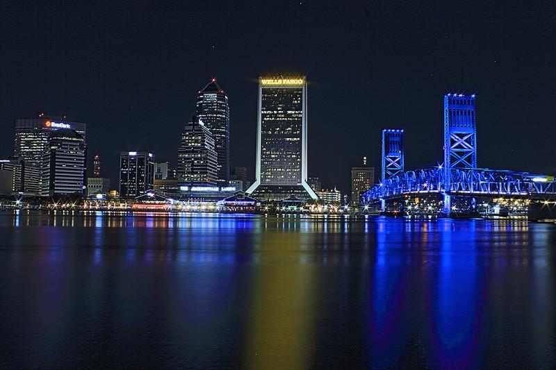 Jacksonville Florida Skyline. AV 22. Canon HDR